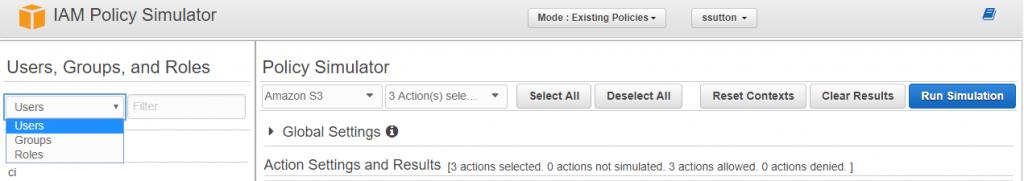 Testing an S3 policy using the AWS IAM Simulator – qualimente